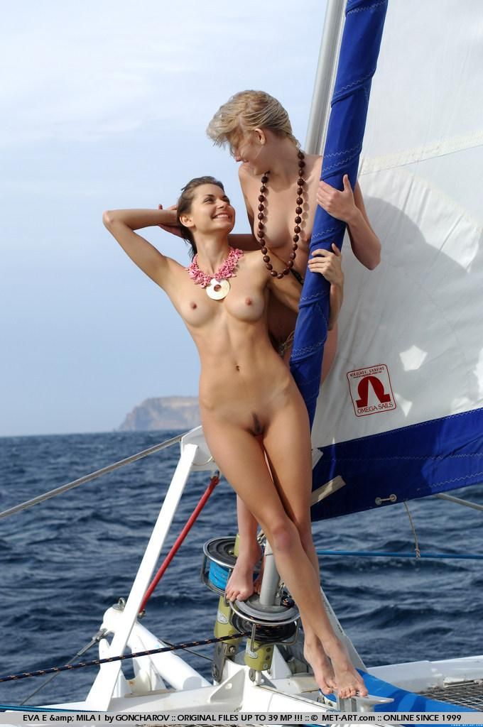 Naked Eva and Mila on the yacht. Part 1 - 11