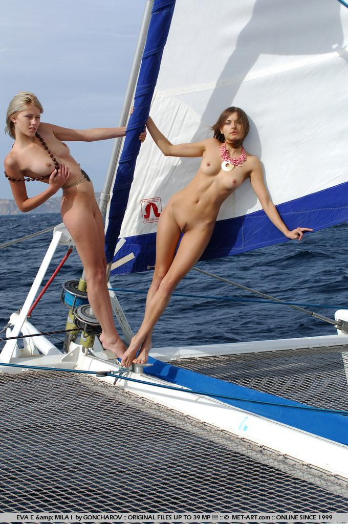 Naked Eva and Mila on the yacht. Part 1 - 8