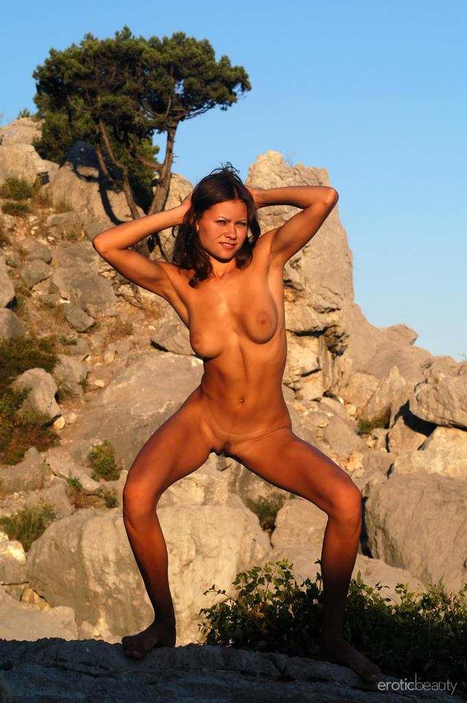 Naked session at sunset with pretty Alena - 11