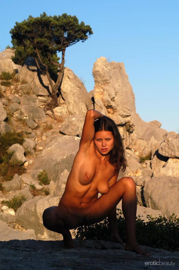 Naked session at sunset with pretty Alena - 13