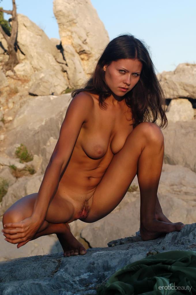Naked session at sunset with pretty Alena - 16