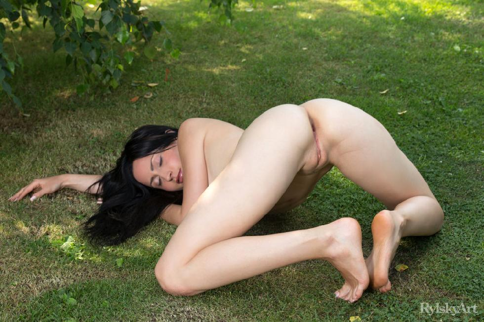 Naked Janelle is posing outdoor - 15