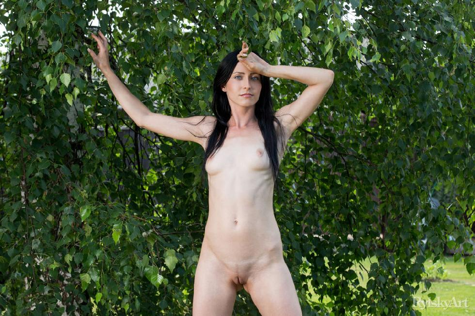 Naked Janelle is posing outdoor - 3