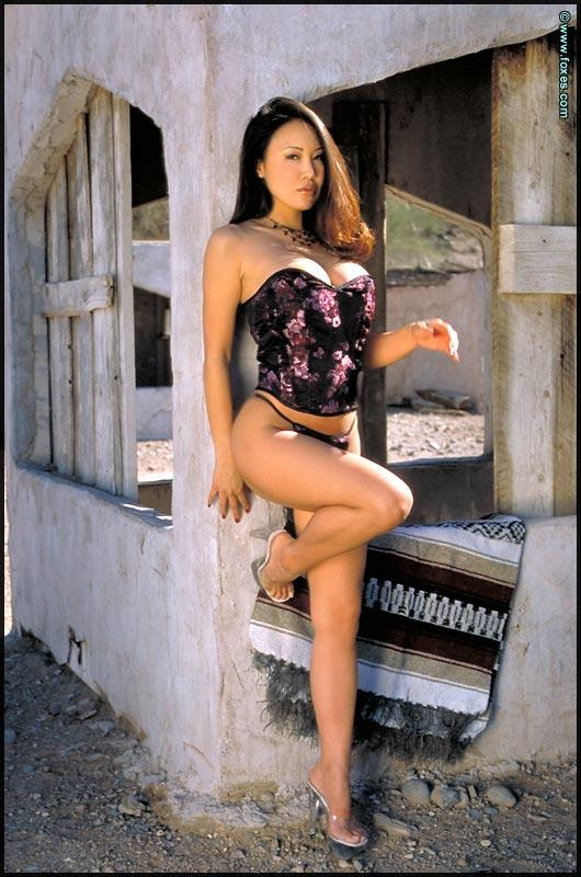 Busty Asian with very long legs - Kristen Muranaga - 4