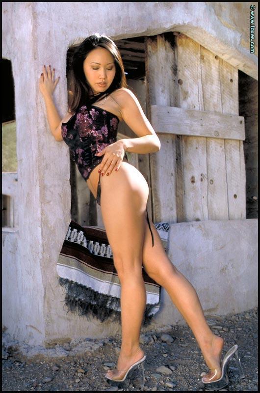 Busty Asian with very long legs - Kristen Muranaga - 6