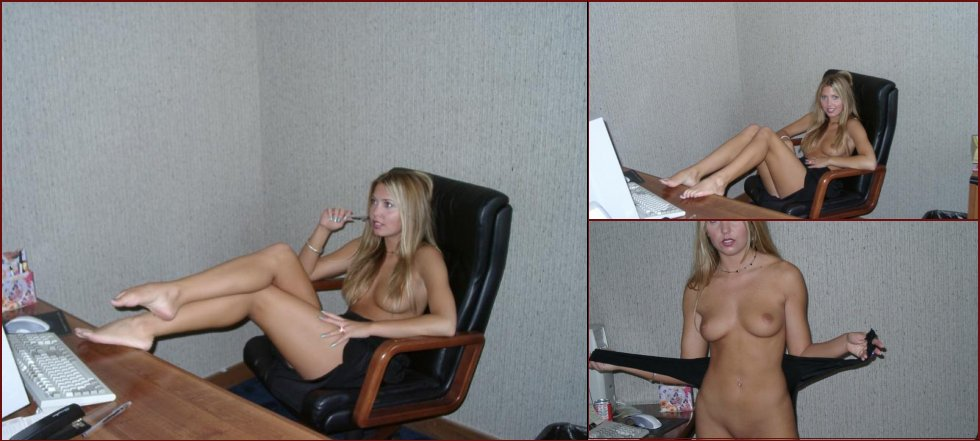 Tanned secretary in the office - 40