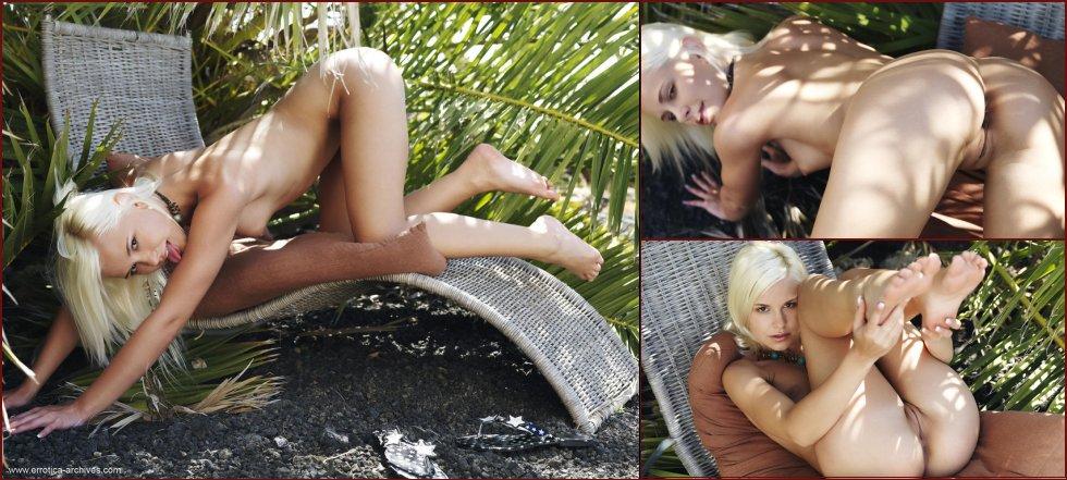 Wonderful blonde girl is tempting outdoor - Dido - 29