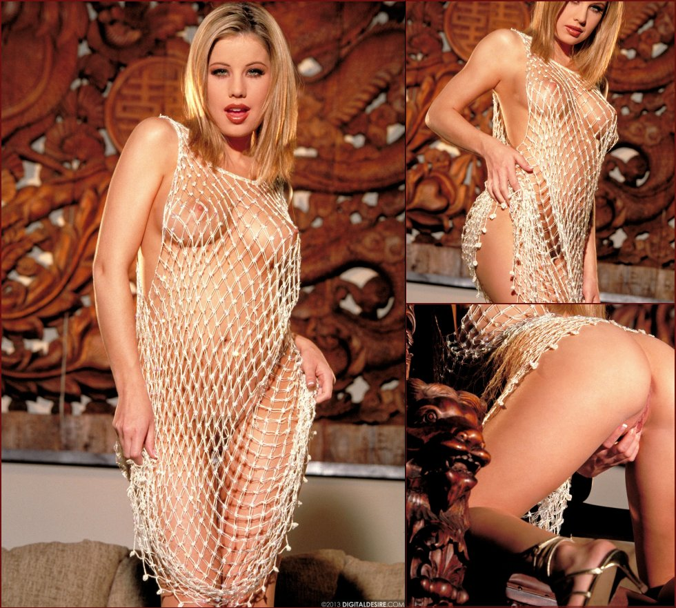 Ashley Brookes is tempting in sexy fishnet dress - 36