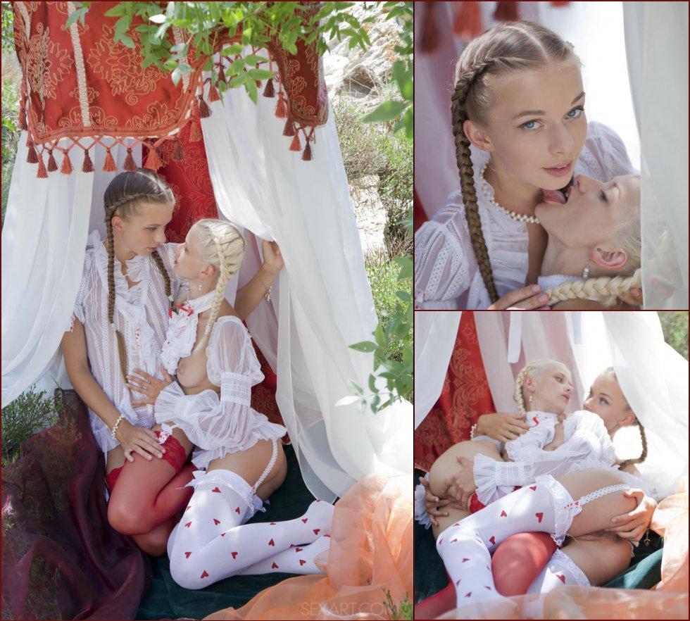 Young girl are having fun in nature - Nika & Milena - 21