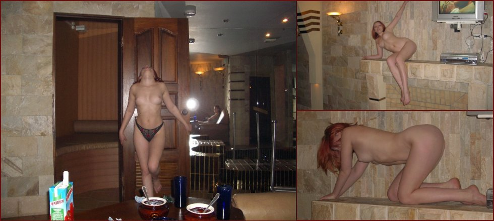 Red-haired amateur and her naked dance - 30