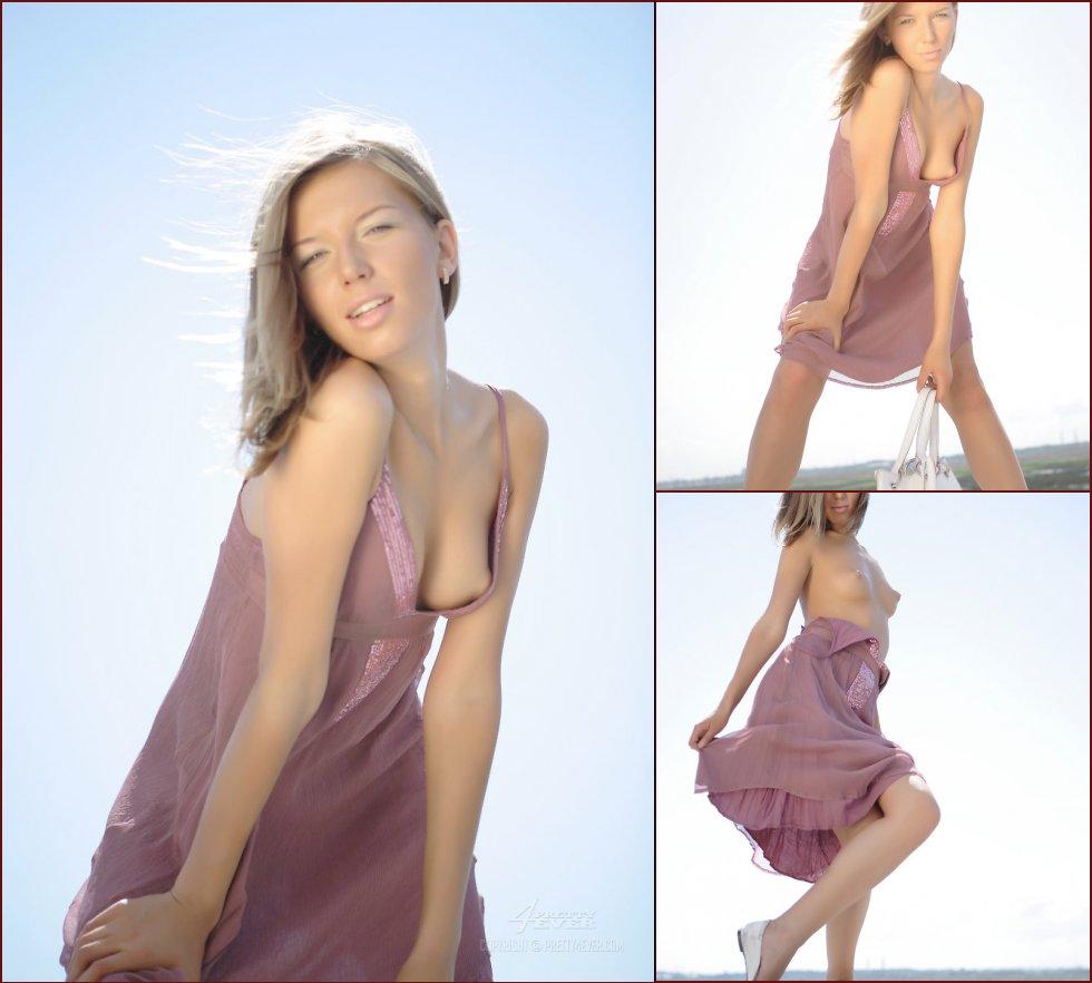 Wonderful Lena is posing in summer dress - 25