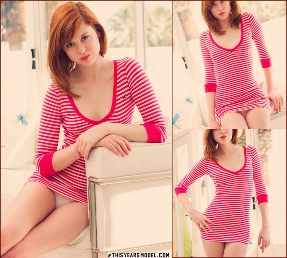 Red-haired teen is showing tiny body - Nikki Leigh - 18